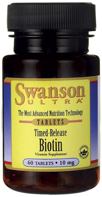 Swanson Ultra Timed-Release Biotin 10mg 60 Tablets