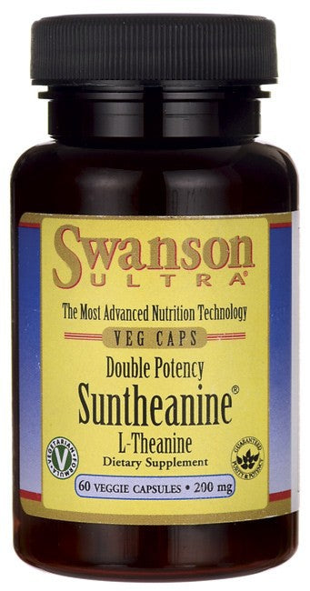 Swanson Ultra Double Potency Suntheanine L-Theanine 200mg 60 Veggie Capsules