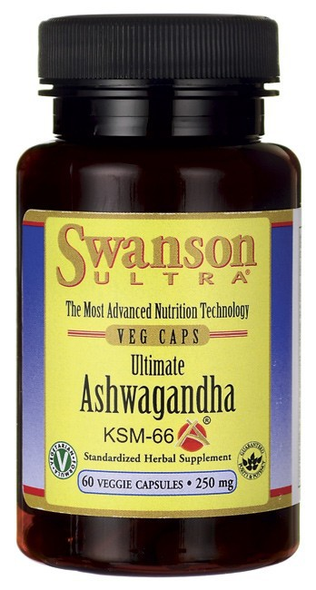 Swanson Ultra Ultimate Ashwagandha KSM-66, 250mg 60 Veggie Caps