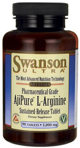 Swanson Ultra AjiPure L-Arginine Sustained Release 1000mg 90 Tablets