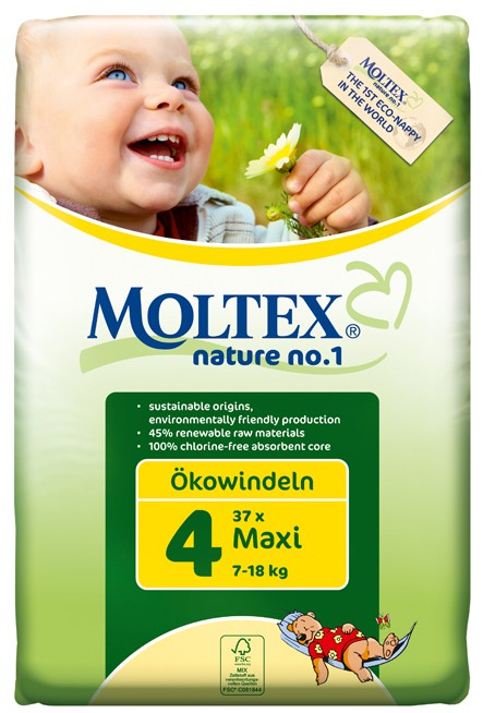 Moltex Nature no.1, Maxi Nappies, 7-18 Kg, Single Pack, 30 Nappies
