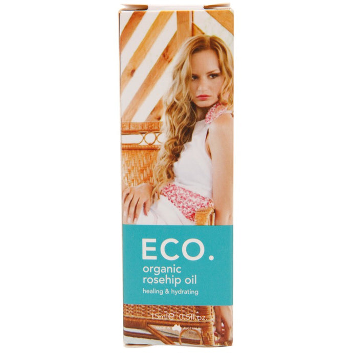 ECO., Rosehip Oil, Healing & Hydrating, Certified Organic, 15 ml