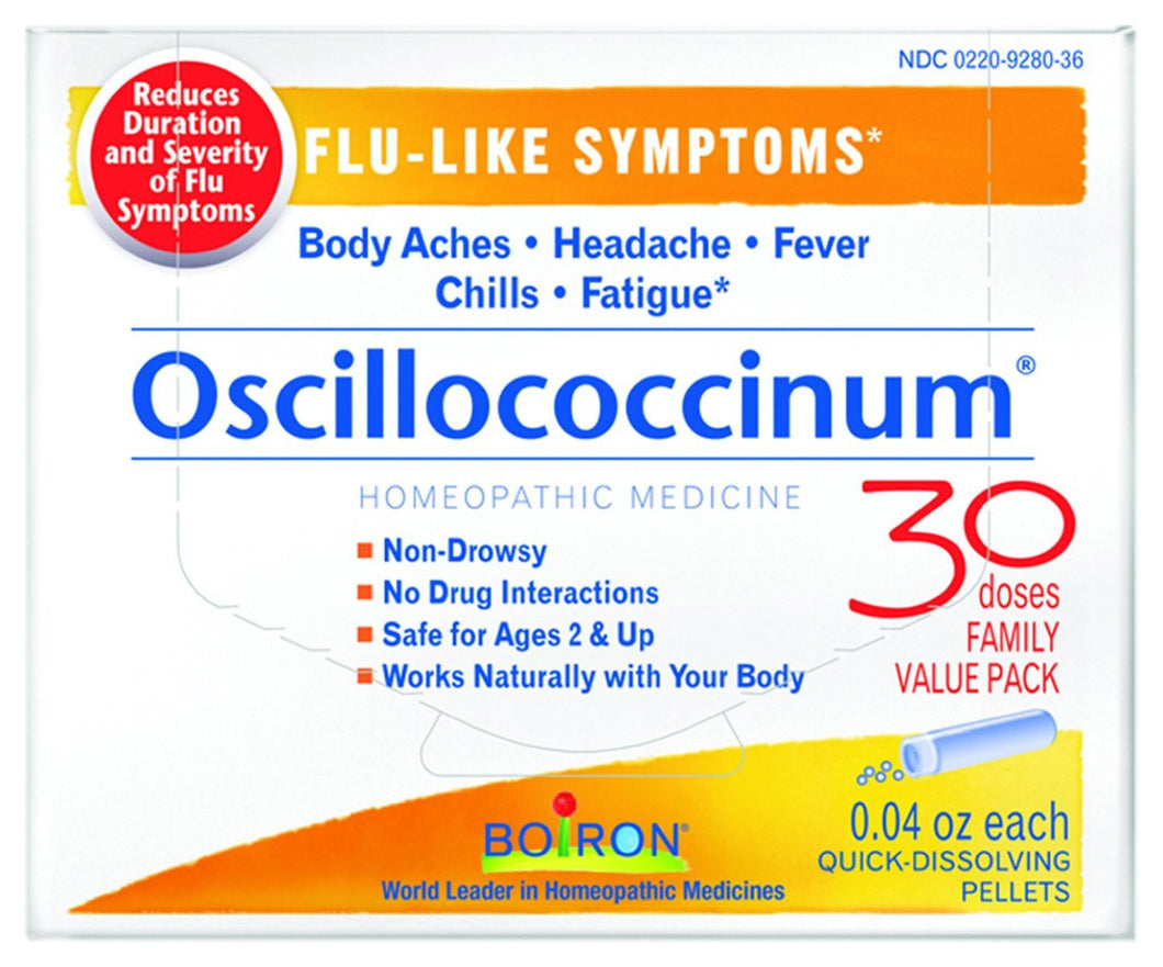 Boiron Oscillococcinum Flu-Like Symptoms 30 Doses 0.04 oz Each