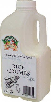 Casalare, White Rice Crumbs, Gluten Free & Wheat Free, 330 g