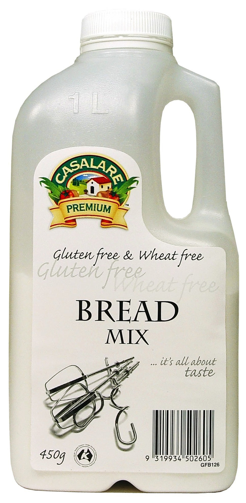 Casalare, Bread Mix, Gluten Free & Wheat Free, 450 g
