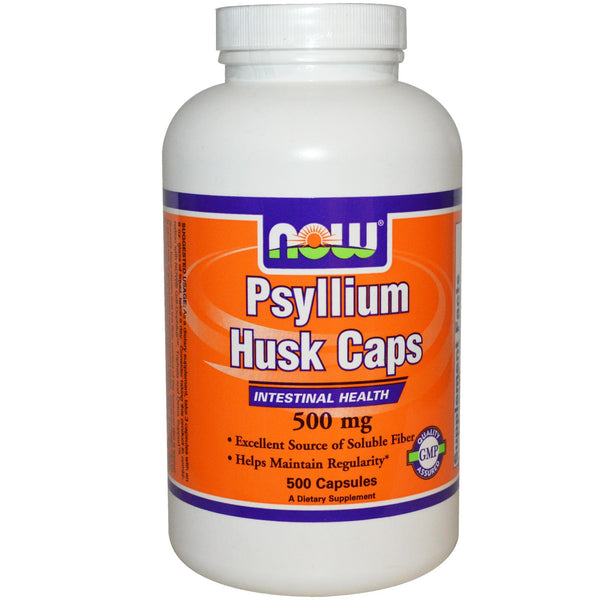Now Foods Psyllium Husk Caps 500 Capsules - Dietary Supplement