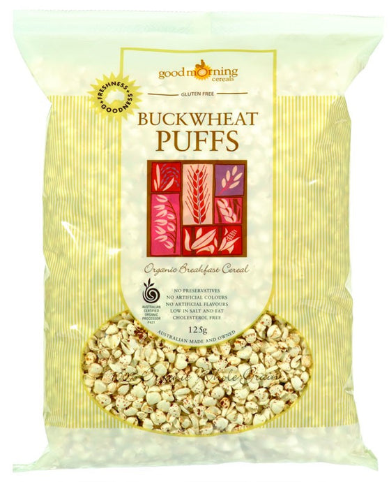 Good Morning Cereals, Buckwheat Puffs, Organic Hulled, Gluten Free, 125 g