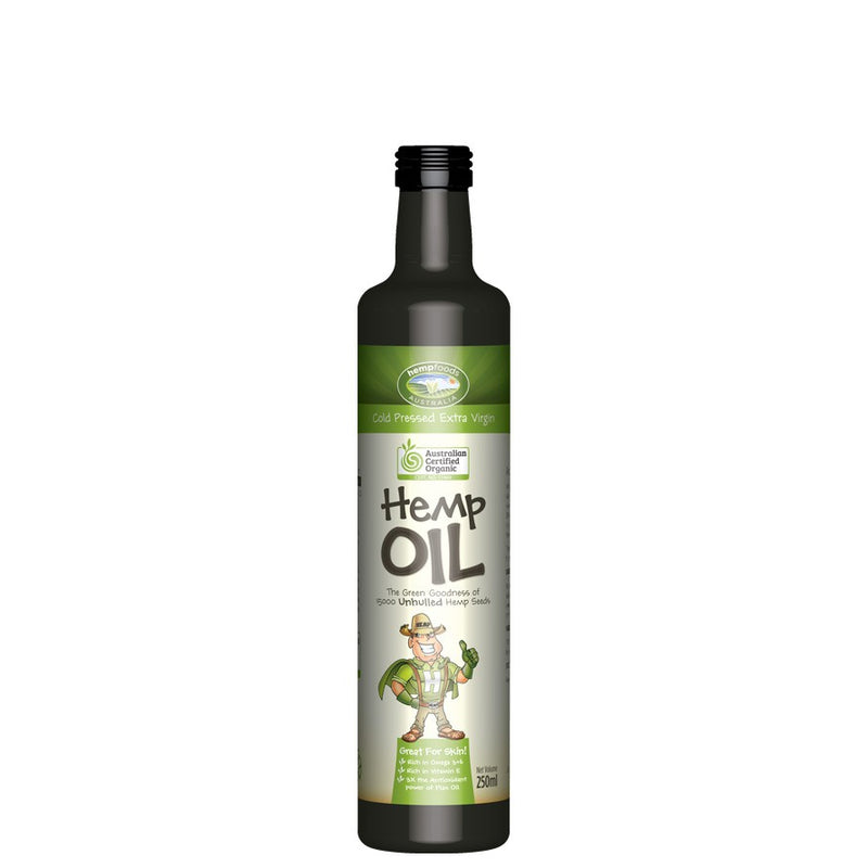 Hemp Foods Australia, Hemp Oil, Organic, 250 ml