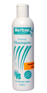 Herbon Natural Products, Ginseng Shampoo, Fragrance Free, 250 ml