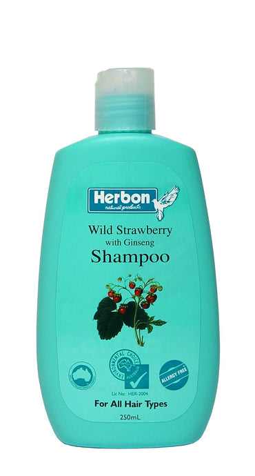 Herbon Natural Products, Wild Strawberry & Ginseng Shampoo, 250 ml