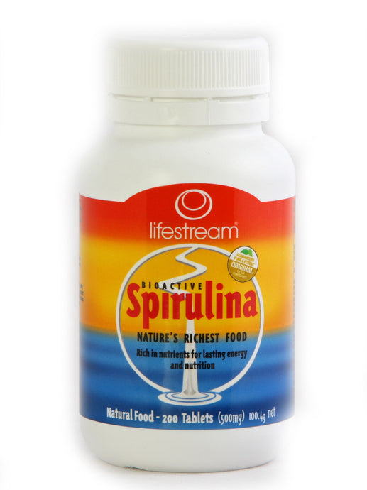 LifeStream Bioactive Spirulina 500 mg 200 Tablets
