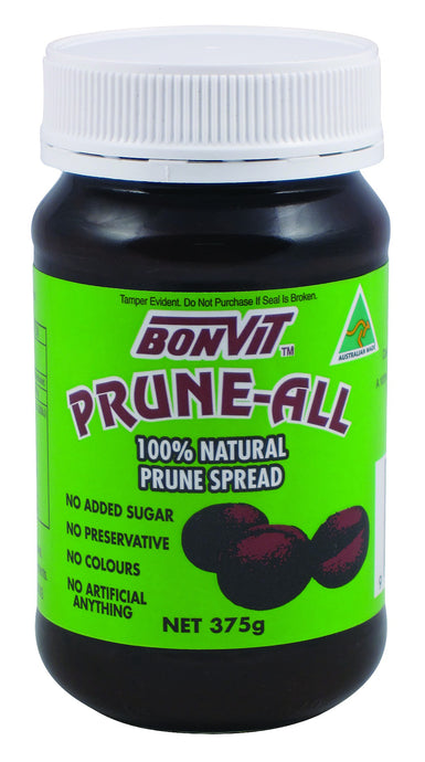 Bonvit, Prune-All Spread, Gluten & Dairy Free, 375 g