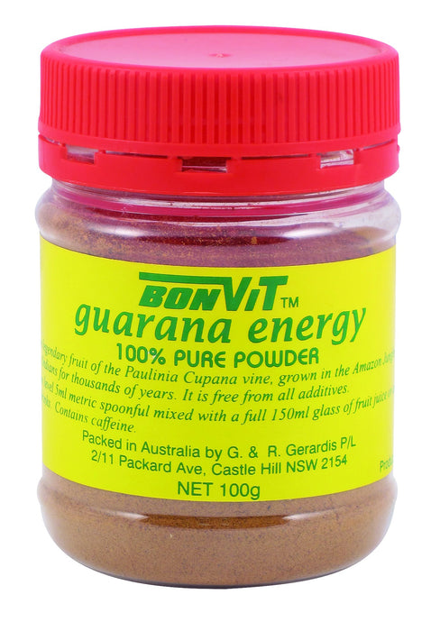 Bonvit Guarana Energy 100 % Pure Powder 100g - Health Supplement