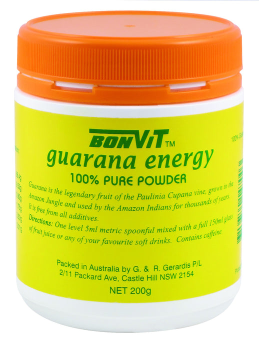 Bonvit, Guarana Energy, 100 % Pure Powder, 200 g ... VOLUME DISCOUNT