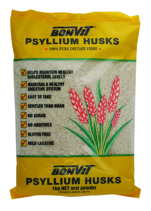 Bonvit Psyllium Husks 1 Kg NET Oral Powder