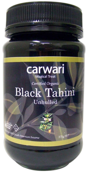 Carwari, Black Tahini, Unhulled, Certified Organic, 375g