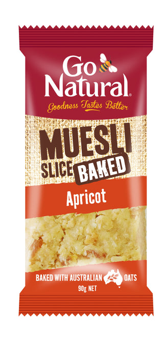 Go Natural, Muesli Slice, Apricot, 12 X 90 g Each