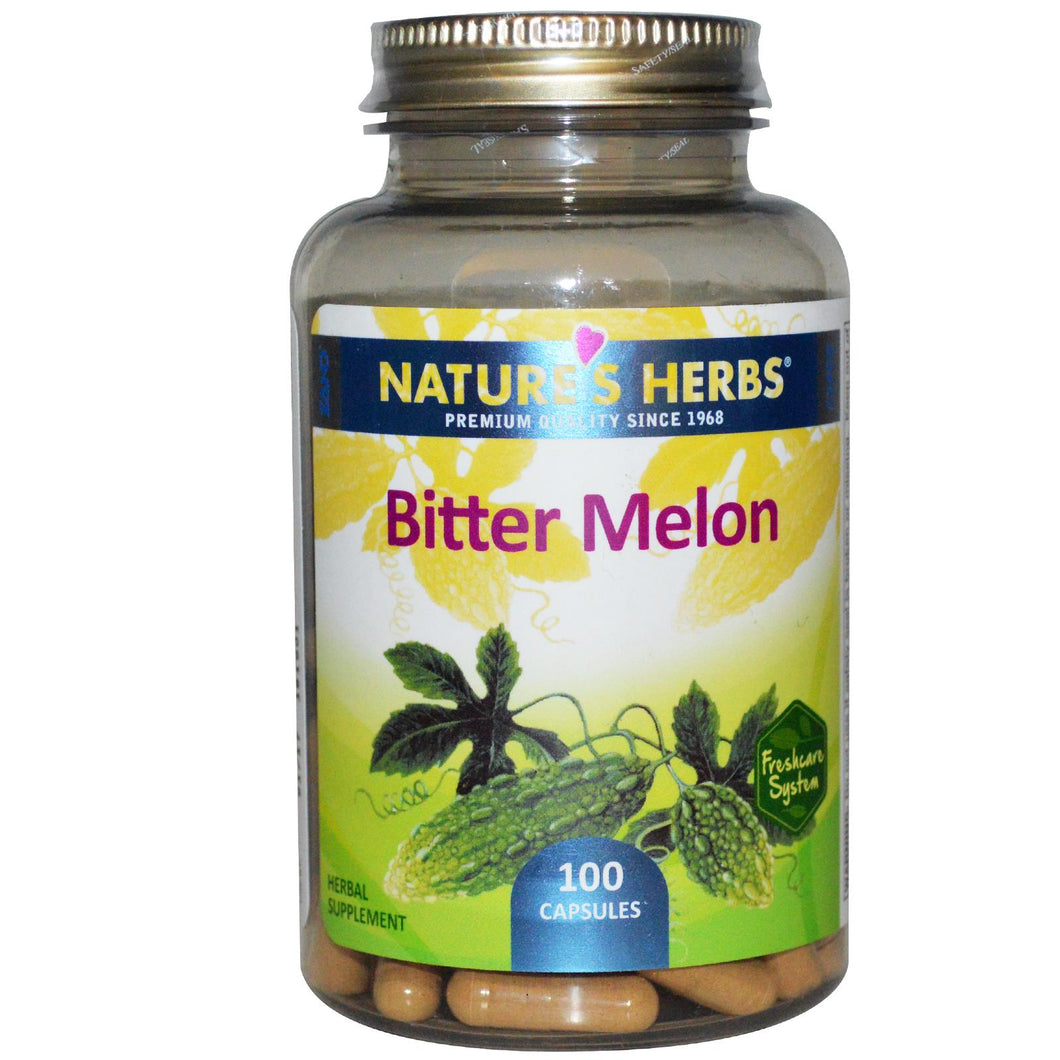 Nature's Herbs, Bitter Melon, 100 Capsules - Supplement