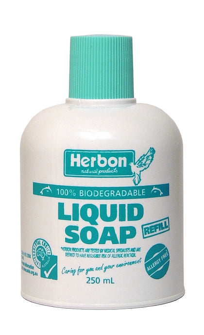 Herbon Natural Products, Liquid Soap, 100 % Biodegradable, Refill, 250 ml