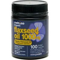 Melrose, Flaxseed Oil, Certified Organic, 1000 mg, 100 Vcaps