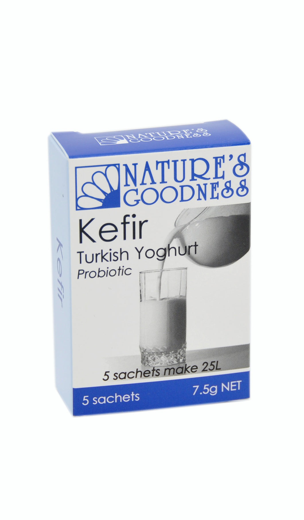 Nature's Goodness, Kefir, Turkish Probiotic, 5 Sachets, 7.5 g Each