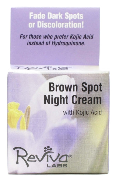 Reviva Labs, Brown Spot Night Cream with Kojic Acid, 42 Grams