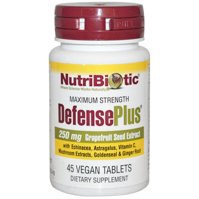 Nutribiotic, DefencePlus, Maximum Strength, 250 mg, 45 Vegan Tablets