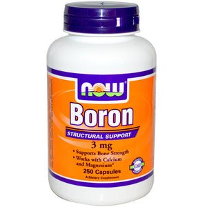 Now Foods, Boron, 3mg, 250 Capsules ... VOLUME DISCOUNT