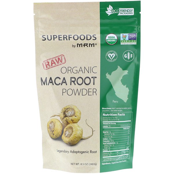MRM, RAW Organic Maca Root Powder, 8.5 oz (240 g)