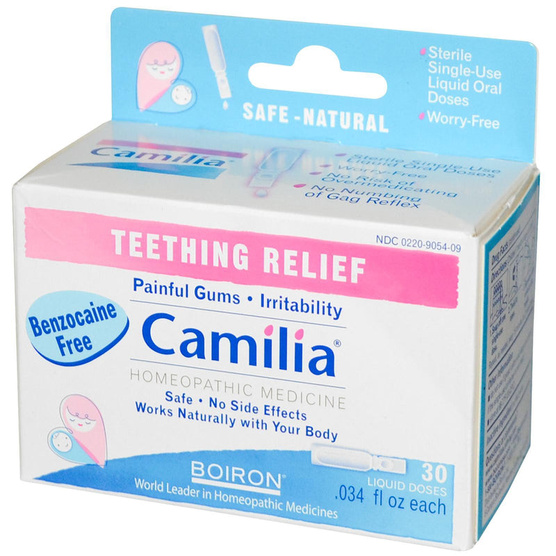 Boiron, Camilia, Teething Relief, 30 Liquid Doses, 0.34 fl oz, Each