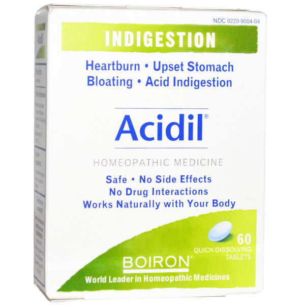 Boiron, Acidil, Indigestion, Quick Dissolving Tablets, 60 Tablets