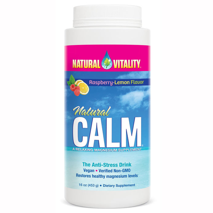 Natural Vitality, Natural Calm, The Anti-Stress Drink, Raspberry Lemon Flavour, 453 g