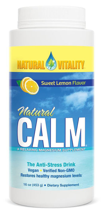 Natural Vitality, Natural Calm, A Relaxing Magnesium Supplement, Sweet Lemon Flavour, 453 g
