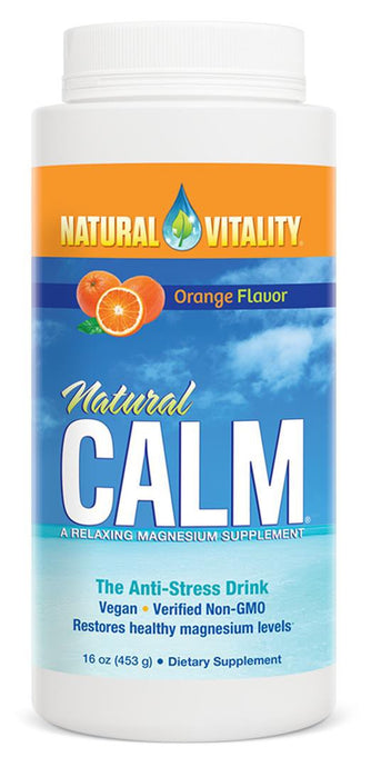 Natural Vitality, Natural Calm, Organic Orange Flavour, 453 g