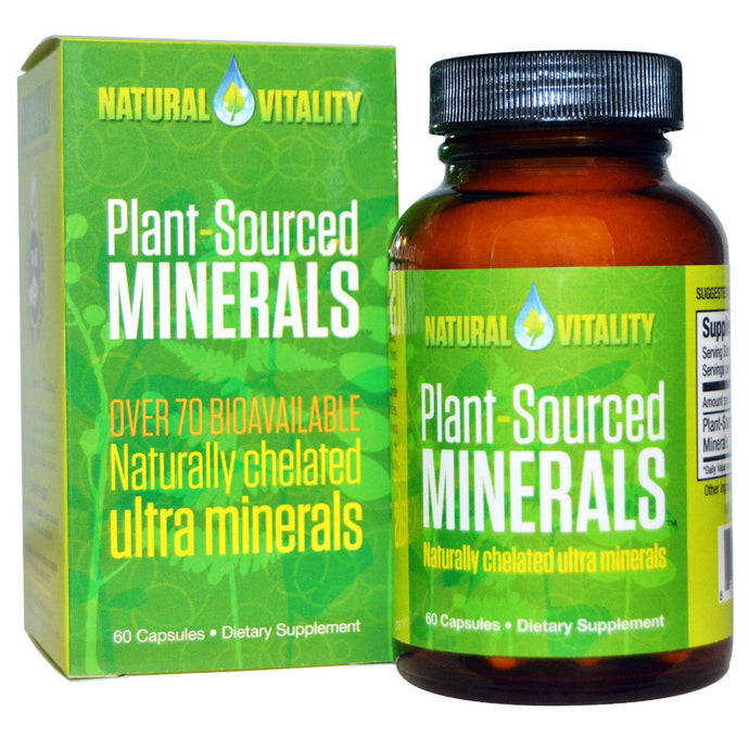 Natural Vitality, Plant Sourced Minerals, 60 Capsules