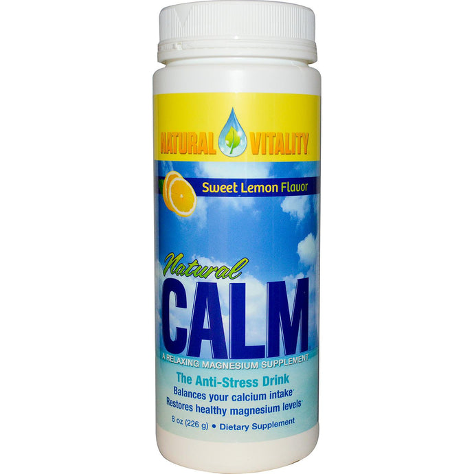 Natural Vitality, Natural Calm, Organic, Sweet Lemon Flavour, 226 g