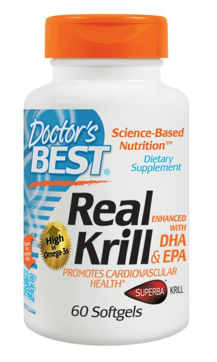 Doctor's Best Real Krill Enhanced with DHA & EPA 60 Softgels