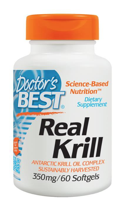 Doctor's Best, Real Krill, 350 mg, 60 Softgels ... VOLUME DISCOUNT