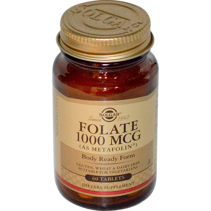 Solgar, Folate, 1000 mcg, 60 Tablets
