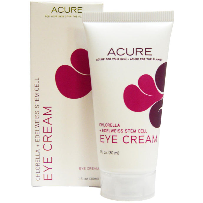 Acure Organics, Eye Cream, Chlorella + Edelweiss Stem Cell, 30 ml, 1 fl oz