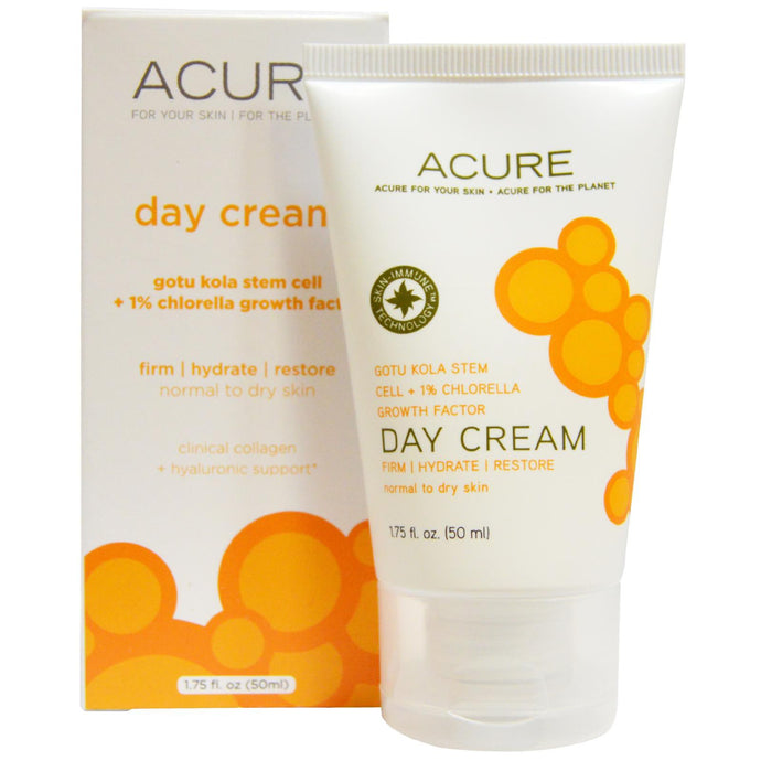 Acure Organics, Day Cream, Gotu Kola Stem Cell + 1 % Chlorella Growth Factor, 50 ml, 1.75 fl oz