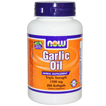 Load image into Gallery viewer, Now Foods, Garlic Oil, 1500mg, 250 Softgels ... VOLUME DISCOUNT