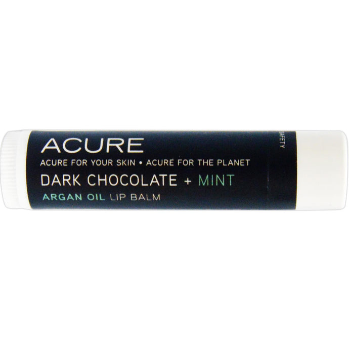 Acure Organics, Argan Oil, Lip Balm, Dark Chocolate + Mint, 4.25 g
