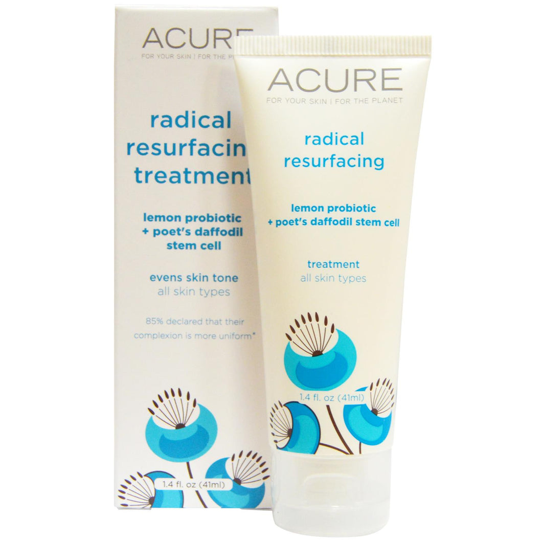 Acure Organics Radical Resurfacing Treatment Lemon Probiotics + Poet's Daffodil Stem Cell 41 ml 1.4 fl oz