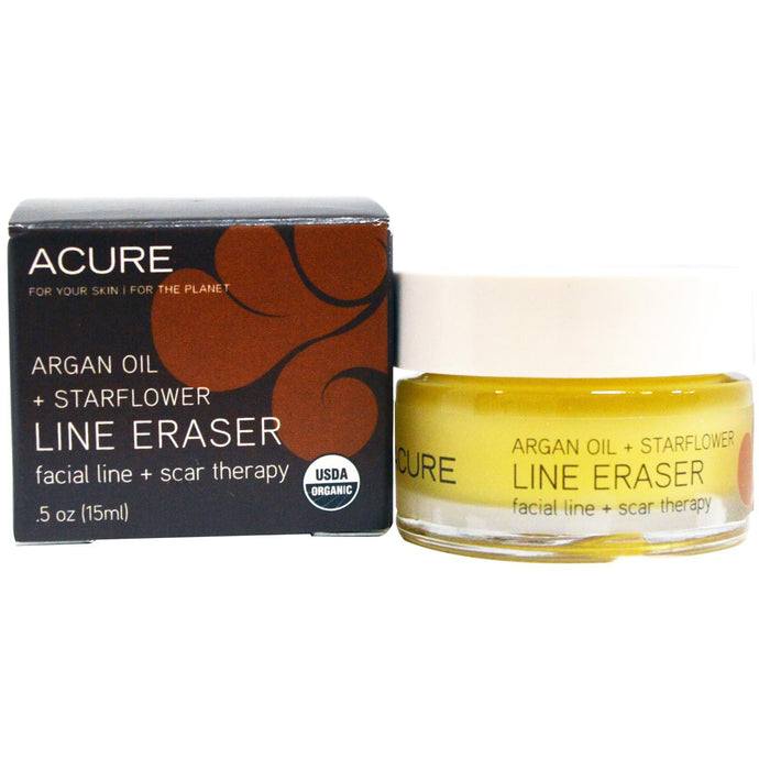 Acure Organics, Line Eraser, Facial Line + Scar Therapy, Argan Oil + Star Flower, 15 ml