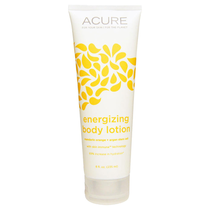Acure Organics, Energising Body Lotion, Mandarin Orange + Argan Stem Cell, 235 ml