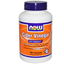 Load image into Gallery viewer, Now Foods, Cider Vinegar, Diet Formula, 180 Capsules