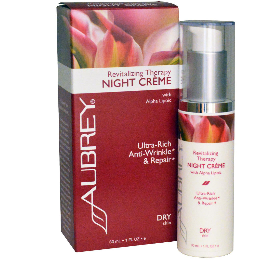 Aubrey Organics, Revitalising Therapy Night Cream, Dry Skin, 30 ml