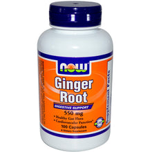 Load image into Gallery viewer, Now Foods, Ginger Root, 550mg, 100 Capsules