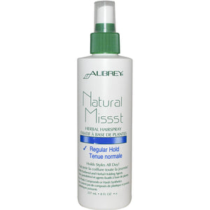 Aubrey Organics, Natural Missst, Herbal Hairspray, Regular Hold, 237 ml
